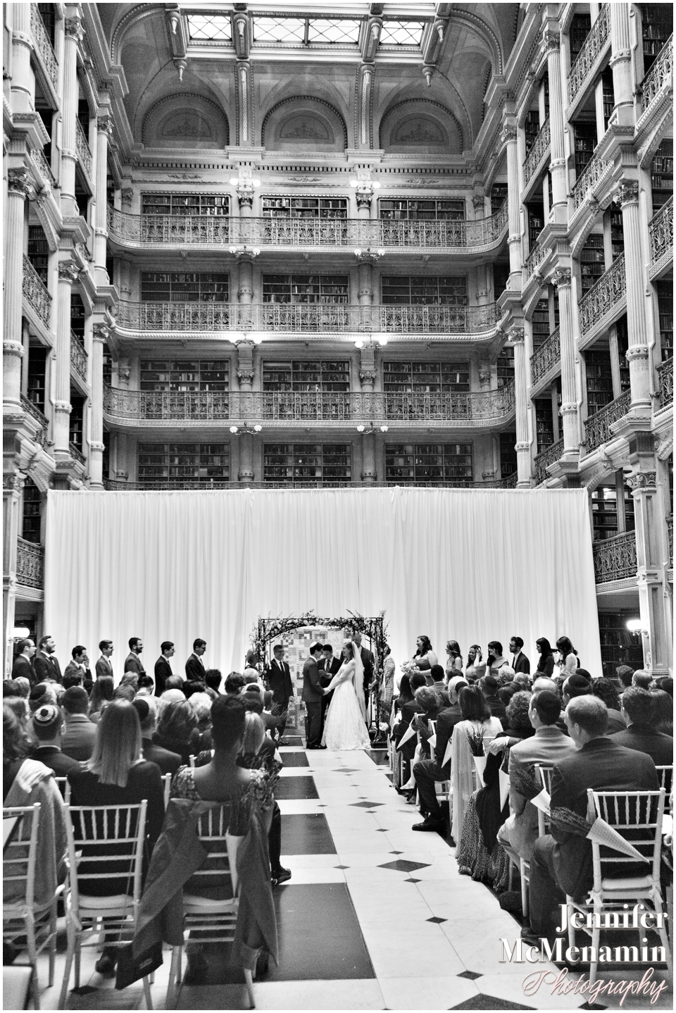 0074-WebbSlivnick_02811bw-0567_JenniferMcMenaminPhotography_George-Peabody-Library-wedding_Baltimore-wedding-photography_Baltimore-wedding-photographer