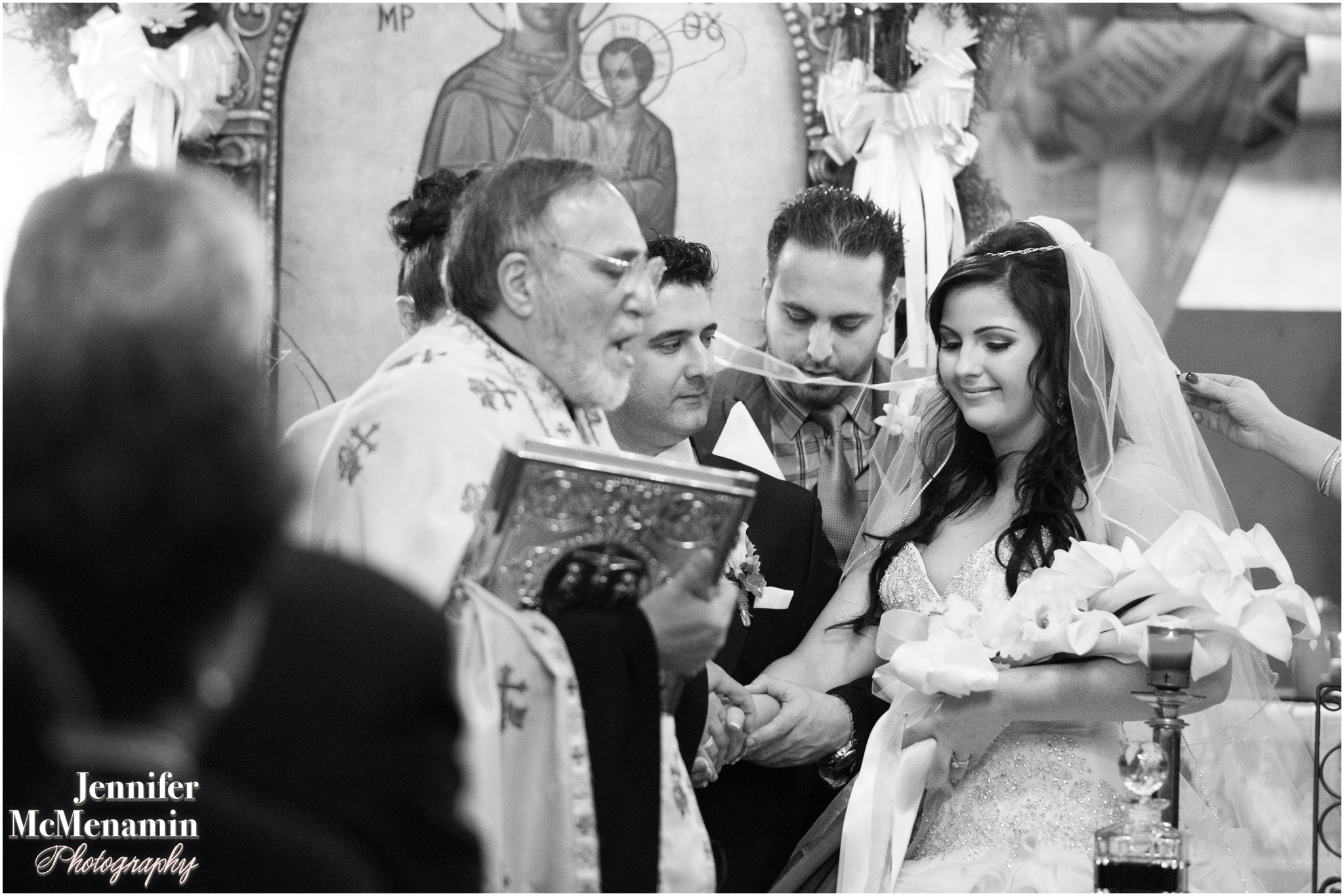 056-RigopoulosHatzinicolas_02591bw_JenniferMcMenaminPhotography_St-Nicholas-Greek-Orthodox-Church_Martins-West_Baltimore-wedding-photography_Baltimore-wedding-photographer