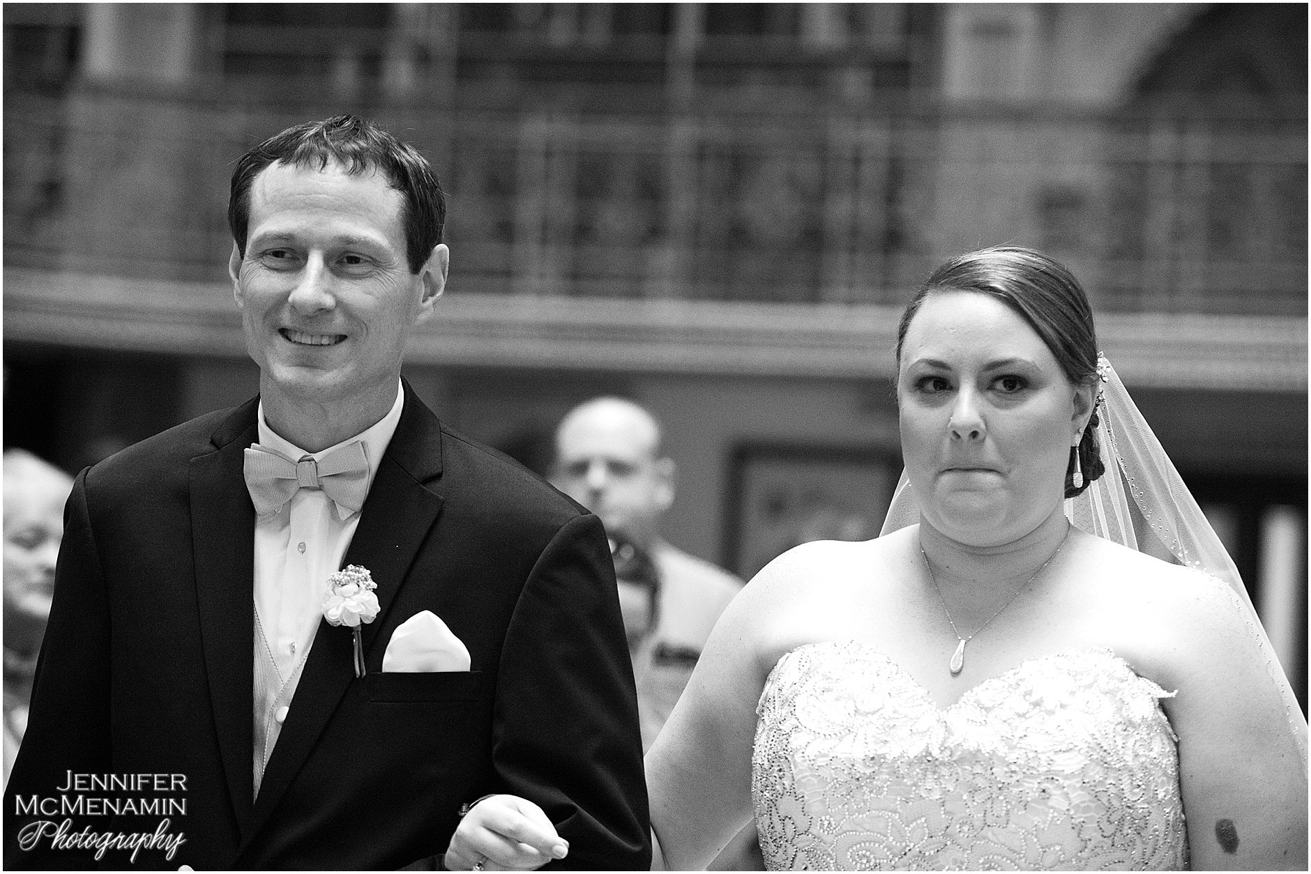 018-KinzlerShaull_02159bw_Jennifer-McMenamin-Photography-Peabody-Library-wedding